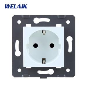 Image 2 - WELAIK EU Standard Power Socket DIY Parts Wall Socket parts Without Glass Panel A8EW/B
