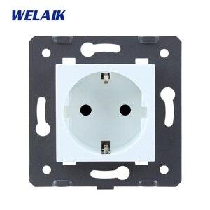 Image 2 - WELAIK Tiêu Chuẩn EU Điện Ổ Cắm DIY Phần Ổ Điện Phần Mà Không Kính Bảng Điều Khiển a8EW/B
