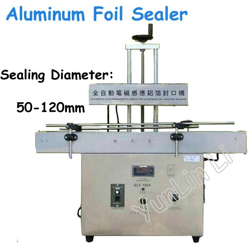 Électromagnétique Feuille D'étanchéité Machine Bouteille Scellant Grand-Calibre Automatique Induction Plafonnement Machine Continue GLF-1800