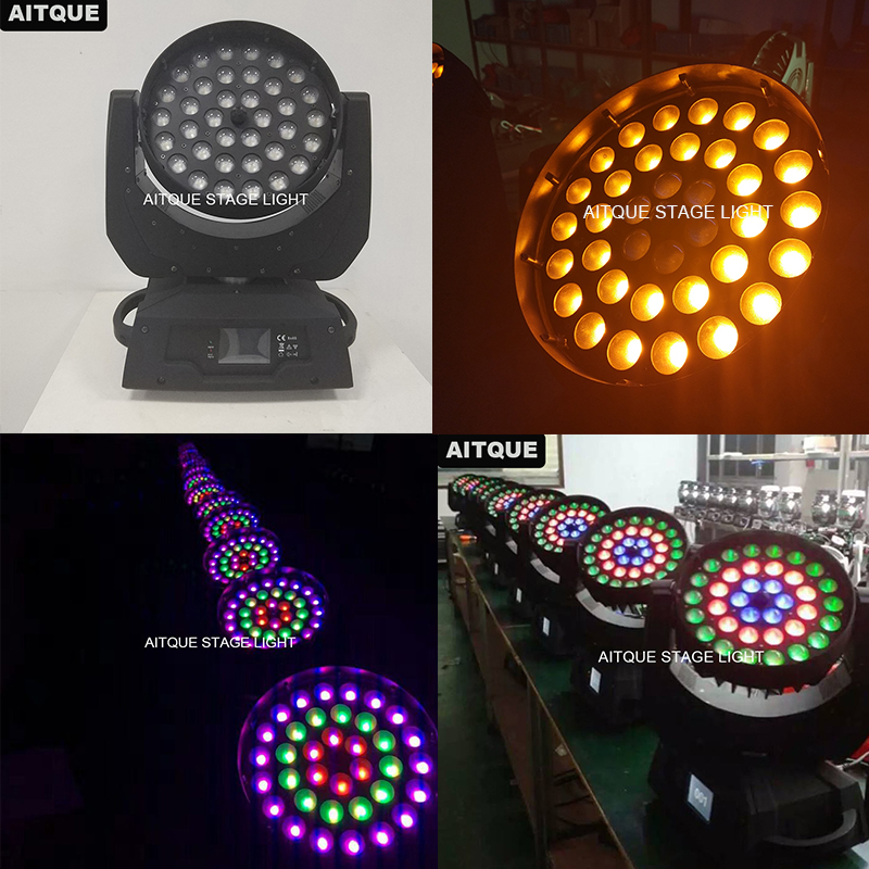 6pcs/lot Stage light 18 x 36 6in1 rgbwauv led wash zoom light 36pcs 18w wash stage lighting led moving head manual