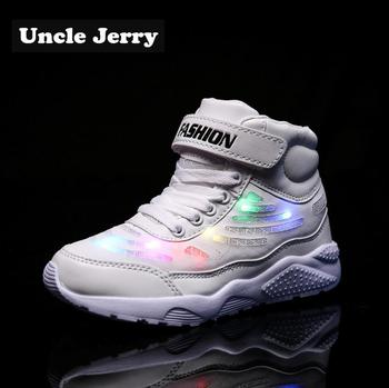 Uncle Jerry Led Shoes for Child USB chargering Light Up Sneakers for boys girls Glowing Fashion Shoes School Comfortable Casual classical led shoes for kids and adults usb chargering light up sneakers for boys girls men women glowing fashion party shoes