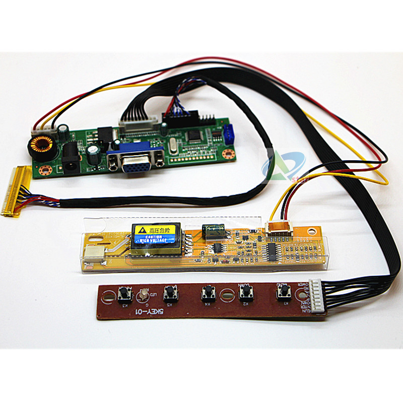 14.1 Inch B141EW02   CLAA141WB05A 1280*800 LCD Screen DIY A Monitor Controller Board Kit RTD2270L Driver Board 30pin LVDS Cable