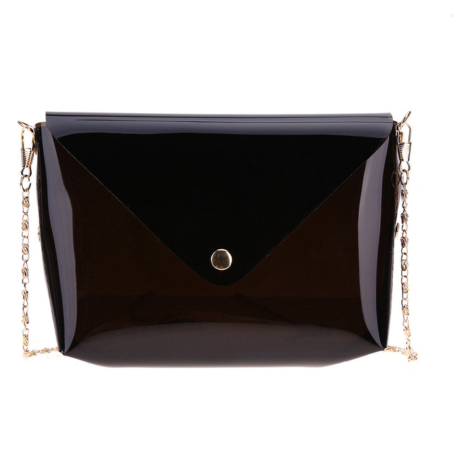 2018 Candy Color Women Leather Plastic Purses And Handbags Chain Shell Transparent Hand Bag Fashion Shoulder