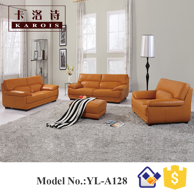 Modern Furniture Living Room Leather leather sofa design promotion-shop for promotional leather sofa