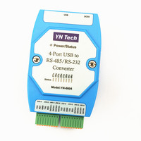 YN8604 USB Turn 4 Ports RS485/232 Four Road RS232 Switch USB Serial Line COM Port Conversion Industry