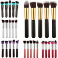 Big 5pcs Makeup Brushes Set Synthetic Hair Cosmetic Eye shadow Powder Foundation Blending Blush Lip Brush Cosmetic Tools Kit