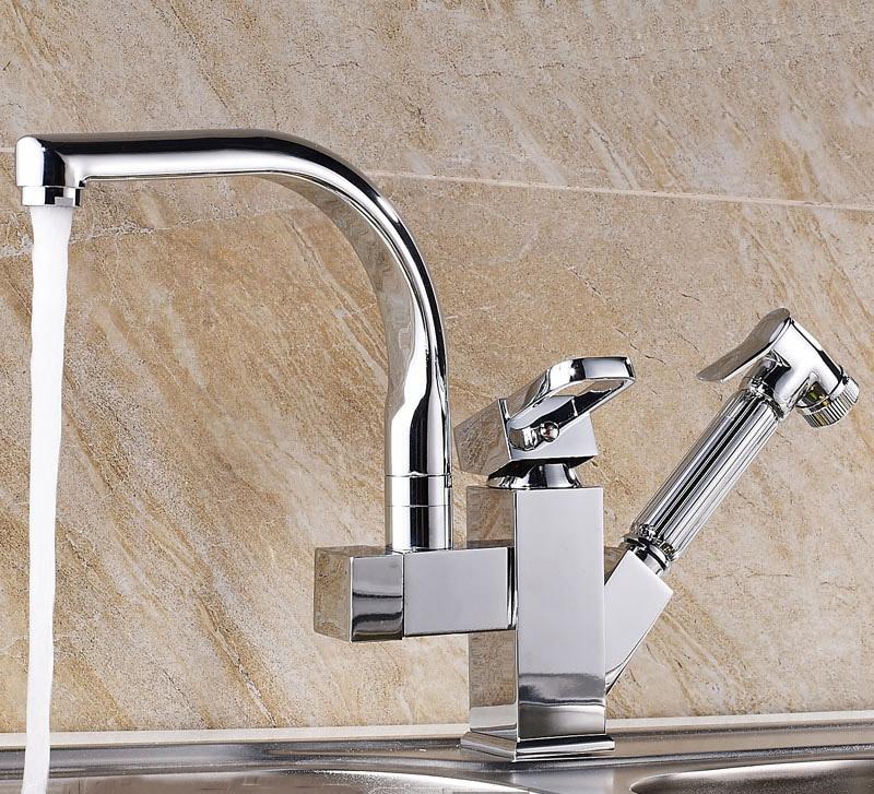 Factory Direct Sale Kitchen Faucet Chrome Finish Deck