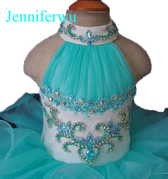 halter strap newborn girl dress  infant and toddler girl  formal dress  prom gown 1T-6T G100