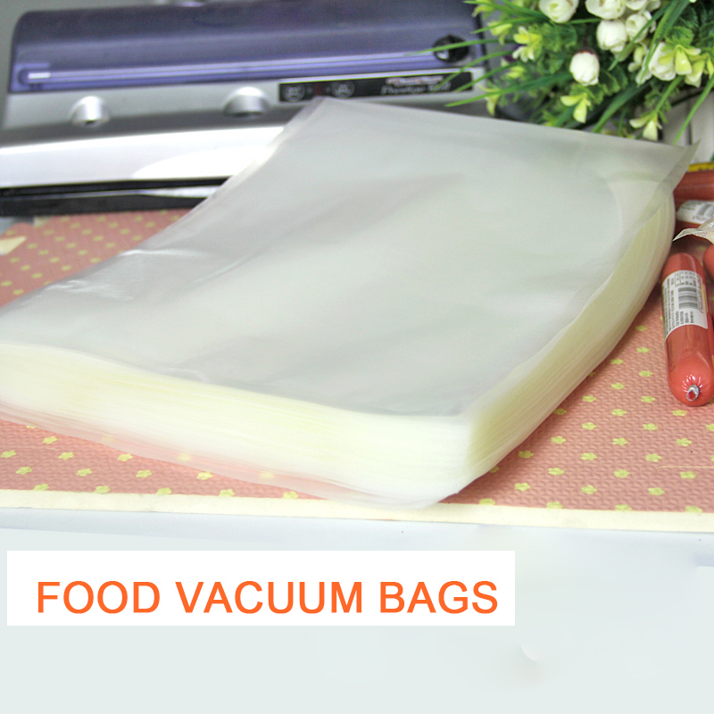 13*18cm 100pcs Food Storage Bags Vacuum seal food bags Pouch Heat Seal Embossed Poly Use For Kitchen Food Fresh keeping sealer-in Saran Wrap u0026 Plastic Bags ... & 13*18cm 100pcs Food Storage Bags Vacuum seal food bags Pouch Heat ...