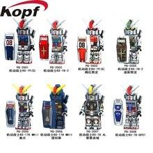 PG8112 Super Heróis Terno Armadura Móvel Seed Destiny RX-178 MK-11 RX79 RX-78-2 Modelo Blocos de Construção Para As Crianças Brinquedos de Presente Ação