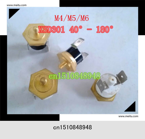 KSD301 40C-150C ceramic screw cap M4/M5/M6 hexagonal head copper Screw switch Thread