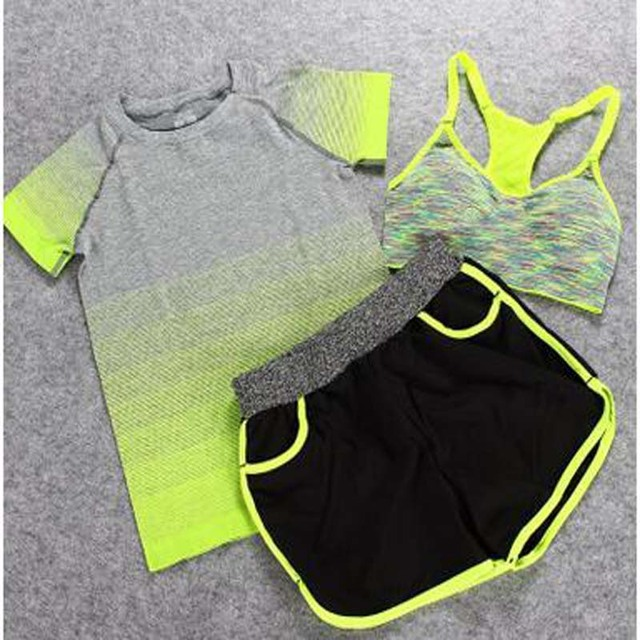 Female Short-sleeved Summer Outdoor Yoga Set