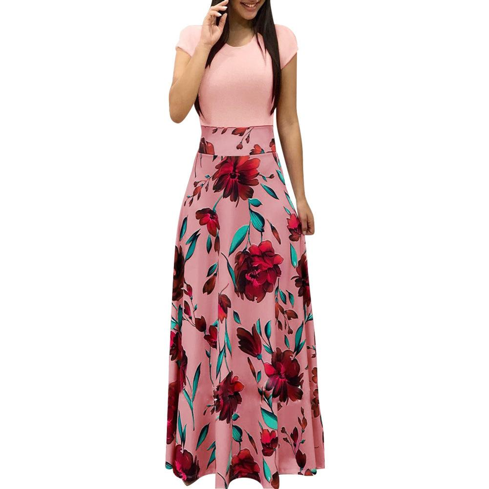 Boho Women Floral Maxi Dress Summer Beach Long Bohemian Sundress robe femme ete 2018