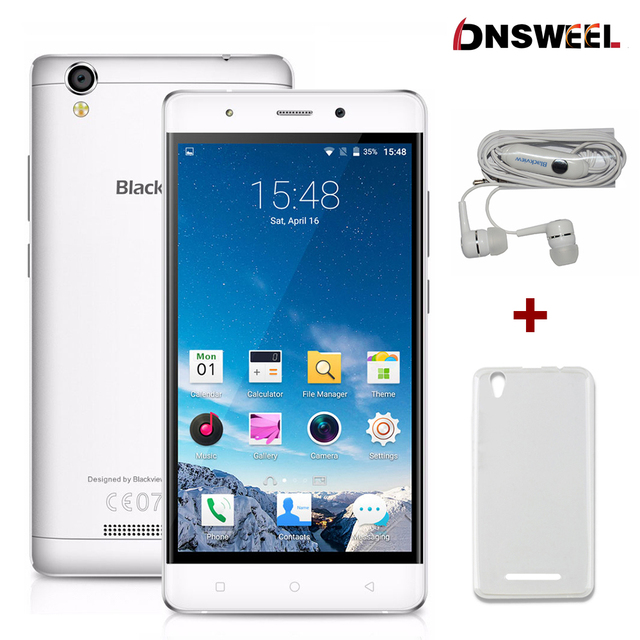 Original Blackview A8 mobile phone MTK6580 Quad core 5.0 inch IPS HD screen smartphone Android 5.1 1GB RAM 8GB 8MP 3G cell phone