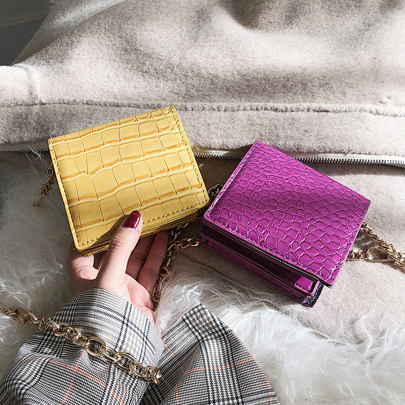 Pu Leather Crocodile Crossbody Bag For Women 2019 Female Mini Chain Shoulder Bags Ladies Small Handbags and Purses Simple StylePu Leather Crocodile Crossbody Bag For Women 2019 Female Mini Chain Shoulder Bags Ladies Small Handbags and Purses Simple Style