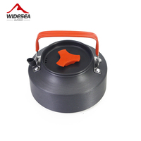 Widesea 1 1L Camping Kettle Outdoor Coffee Kettle Camping Tableware Travel Tableware Outdoor Picnic Set