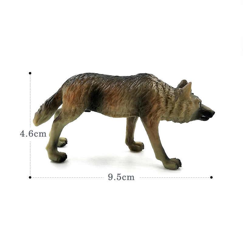 Simulação modelo Animal da floresta Lobo Ovelhas figura estátua estatueta de fadas Decoração de jardim de plástico brinquedos educativos Presente Para As Crianças