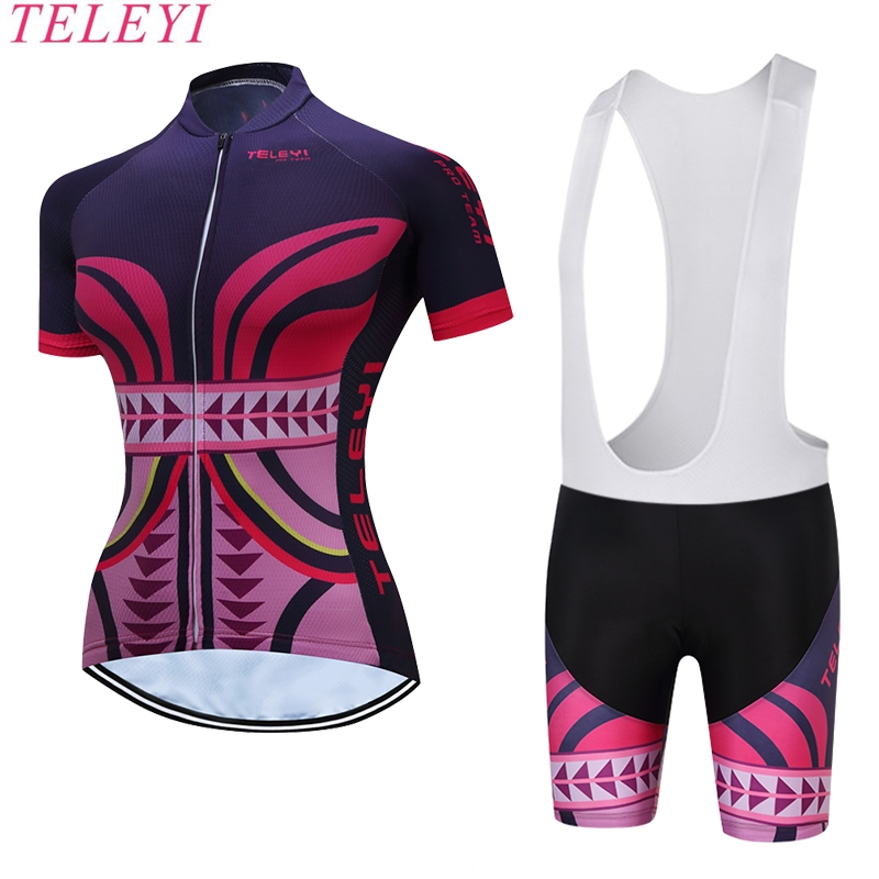 2017 Beautiful Women Short Sleeves Set Cycling Jerseys Bike Clothing Kits Maillot Ropa Ciclismo Biciletas Bike Wear MTB Wear