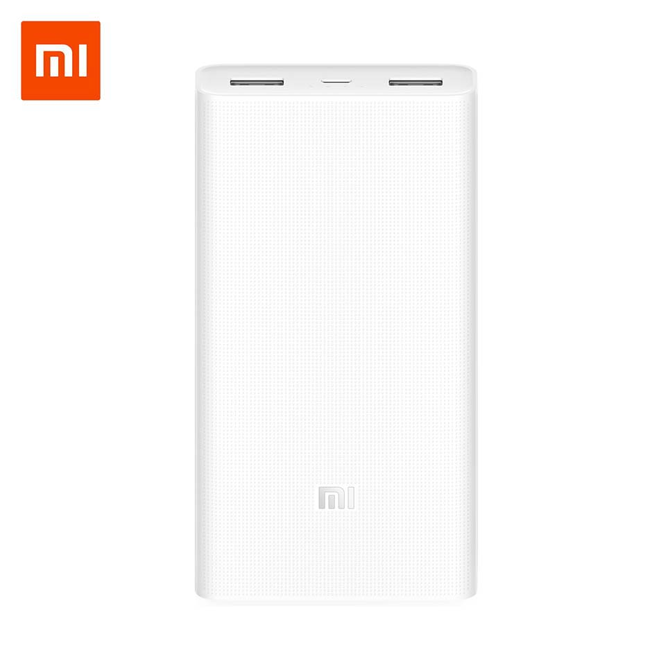 Xiaomi Power Bank 20000mAh 2C external battery portable charging Dual USB Fast Charge QC3.0 Mi Powerbank for iPhone iOS Android