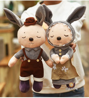 هدية الجملة 2 قطع 50 سنتيمتر لطيف الحلو اللباس روراليتي فتاة الأرنب بوي الأرنب أفخم دمية الزفاف هدية الجائزة محشوة لعبة