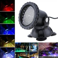 4 Lights 36 LEDs Color Landscaping Spotlights Water Grass Fill Light with Remote Control 16 Colors for Aquarium Fish Tank Pool