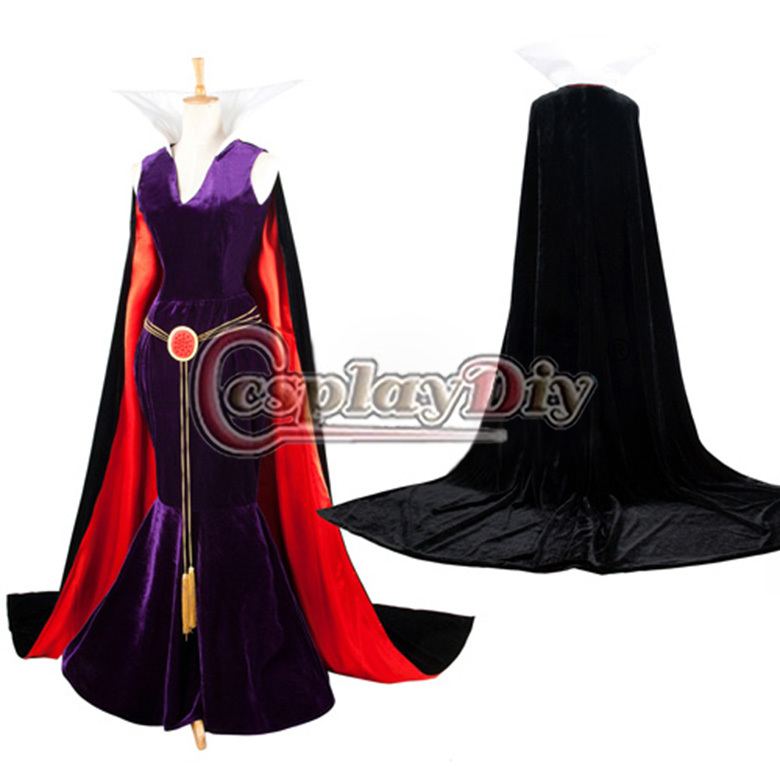 Custom Made Snow White Evil Queen Dress Exclusive Movie Costume For Women's Halloween Cosplay Costume
