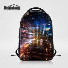 Dispalang брендовые Модные мужские рюкзак женский рюкзак для ноутбука 3D печати больших школьные сумки Повседневная дорожная сумка Mochila
