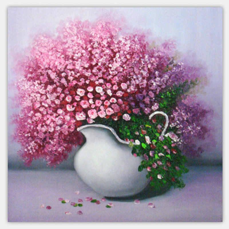Diamant peinture lavande vase 5D bricolage, Animal, diamant rond broderie, point de croix, strass diamant mosaïque vente