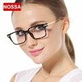 NOSSA Moda Grandes óculos de Armação TR90 Ultral Luz das Mulheres Óculos de Armação Armação Dos Óculos de Prescrição
