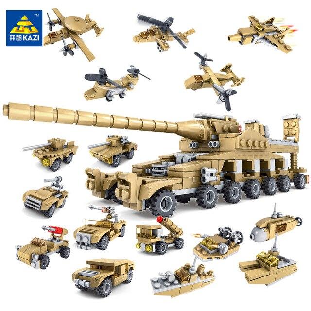 Кази большой IV бак 1193 шт Строительные блоки военные модели солдатиков набор образовательных игрушек для детей Совместимые