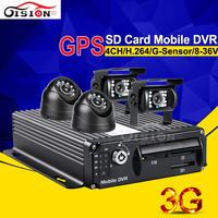 Free Shipping Gision 3G GPS Online Video CCTV Real Time Monitoring Mobile Car Dvr Support PC