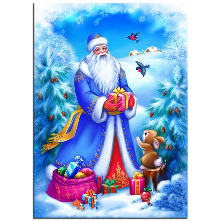 новогодняя открытка с дедом морозом нарисовать него началась