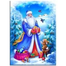 ФОТО new year diy diamond painting christmas diamond mosaic 5d diamond embroidery needlework handmade christmas home decoration rs06