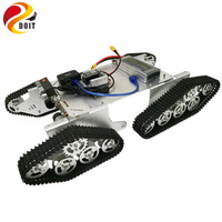T900 4WD Video Monitor Tank Chassis with Openwrt Router+ HD Camera + WiFi Module+ Big Power Motor Driver Control Board