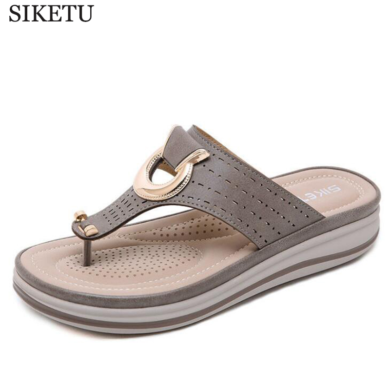 Ladies Flipflop Cork Leather Slipper Women Home Shoes Office Slippers Beach Summer Flip Flops Sandalias De Verano Para Mujer c60