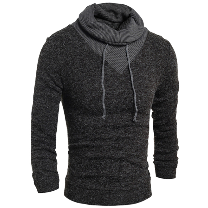 2018 New Turtleneck Men Sweater Autumn Winter Pullover Men Sweater Casual Slim High Collar Solid Mens Jumper Pull Homme