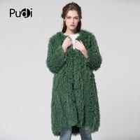 Pudi CT7015 вязать трикотажные монгольских овец пальто с мехом Куртка пальто российских женщин зимние теплые пальто с мехом верхняя одежда доль