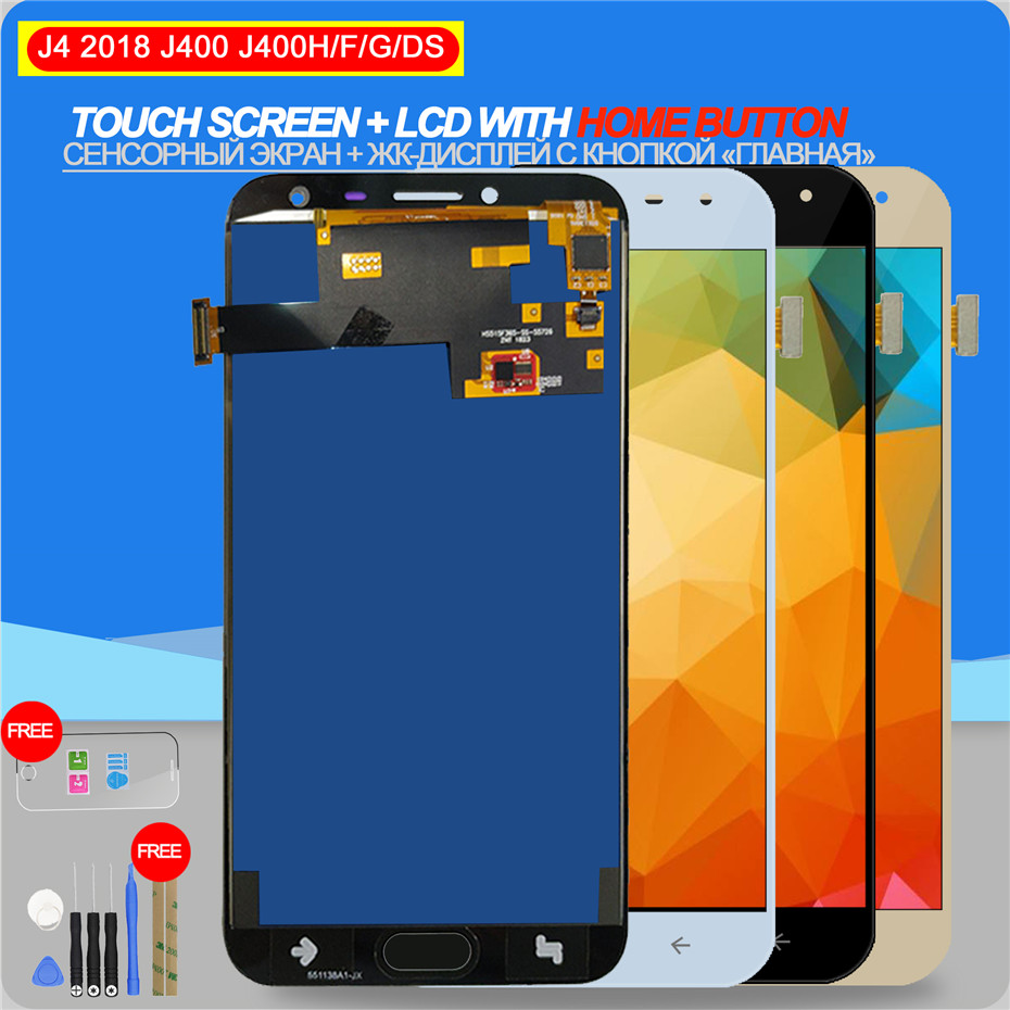 LCD Display for  Samsung Galaxy J4 J400 J400F SM-J400F / DS  Touch Screen Digitizer Assembly with Home Button Adjust BacklightLCD Display for  Samsung Galaxy J4 J400 J400F SM-J400F / DS  Touch Screen Digitizer Assembly with Home Button Adjust Backlight