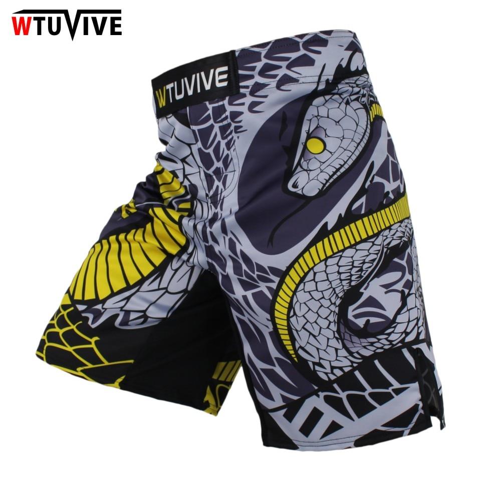 WTUVIVE MMA Boxing Fitness Cats Fighting Sanda Sports Shorts Loose High Quality shorts mma muay thai