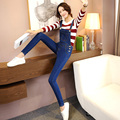 2016 New Fashion Women Preppy Style Denim Jumpsuits Ladies Sexy Slim Casual Romper Plus Siz  Denim Pencil Overalls C604