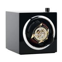 AU/EU/US/UK Automatic Watch Winder Box Five Modes Single Watch Holder Motor Shaker Black PE Piano Paint Case enrrollador reloj