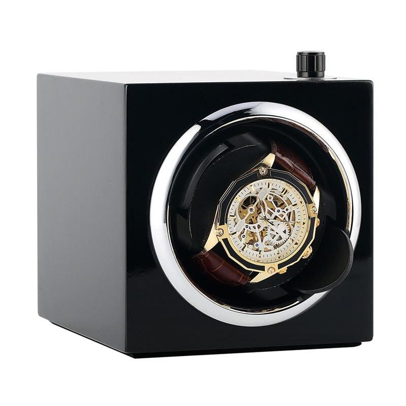 Boîtier de remontoir de montre automatique AU/EU/US/UK cinq Modes support de montre unique moteur Shaker noir PE étui de peinture pour Piano enrrollador reloj