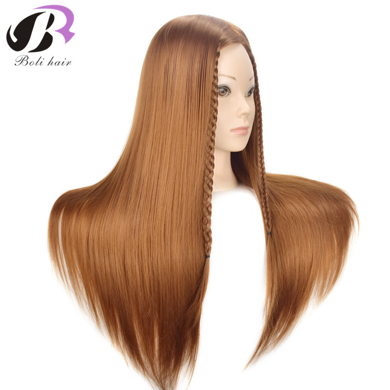 26 Inch Hair Professional Styling Mannequin Head Synthetic Long Hair Hairstyles Hairdressing Training Doll Female Mannequin Head