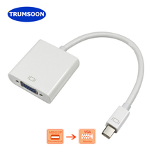 Trumsoon Mini DisplayPort Thunderbolt Mini DP Male to VGA Female Adapter Converter 1080p Cable for Mac