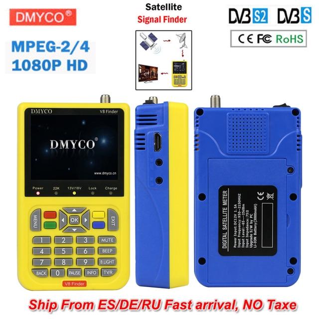 satlink v8 DVB-S/S2 satellite v8 dish finder 1080P High Definition MPEG-2 MPEG-4 lnb Signal sat finder With 3.5 inch LCD Screen