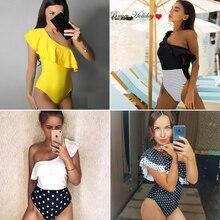 2019 Print Floral One Piece Swimsuit Women Padded Swimwear Bandage Cut Out Mnokini Bathing Suit Plus Size Swimwear XXXL