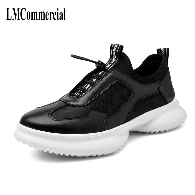 spring summer new men's Korean all-match leather casual shoes breathable cowhide sneaker fashion boots autumn winter British m genreal 2017 new women white shoes all match summer breathable leather shoes vulcanized casual shoes candy color lace 35 39