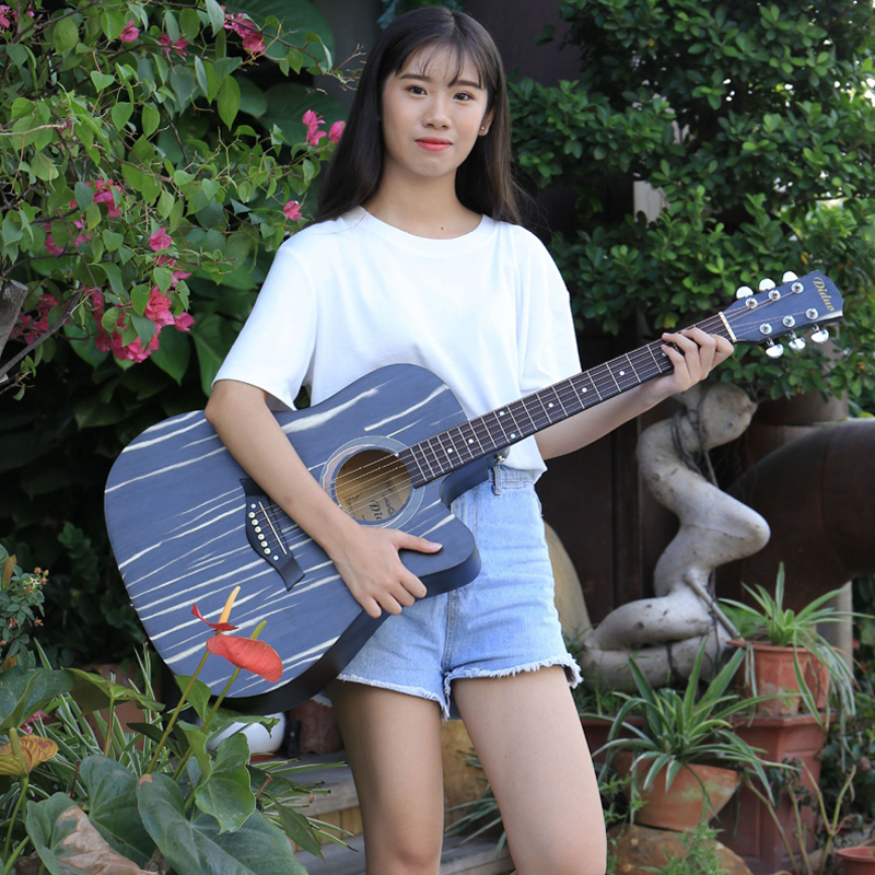 41 inch folk guitar Missing angle Basswood guitar Full closed metal button Guitarra Acoustic Beginner novice acoustic guitar 30 34 36 inch novice guitar beginner folk guitar six chord little guitar