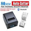 300mm/s Bluetooth Wireless 80mm POS Thermal Receipt Printer Auto Cutter For Windows Android IOS_DHL