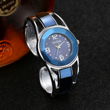 Hot Sell Xinhua Bracelet Watch Women Blue Luxury Brand Stainless Steel Dial Quartz Wristwatches Ladies Fashion Watches